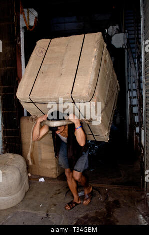 Migrant labour of Kolkata, India - Stock Photo