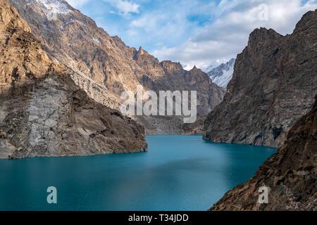 Attabad Lake, Gojal Valley, Hunza, Gilgit-Baltistan, Pakistan - Stock Photo