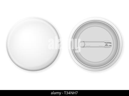 Badge pin on a white background. Vector illustration. - Stock Photo