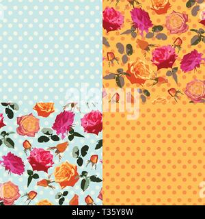 Victorian Roses on the Pastel Blue. Dusty Colors - Stock Photo
