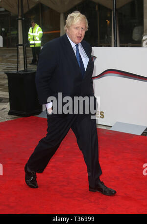 Jan 22, 2016 - London, England, UK - The Sun Military Awards, Guildhall - Red Carpet Arrivals Photo Shows: Boris Johnson - Stock Photo
