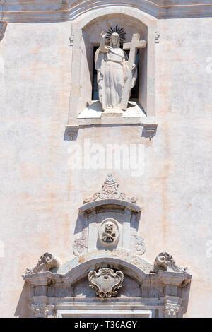 San Giuseppe Church in Piazza IX Aprile - Piazza Nove Aprile -  in Taormina, East Sicily, Italy - Stock Photo