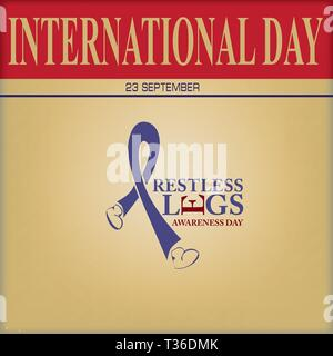 International Day 23 September - Restless Legs Awareness Day - Stock Photo