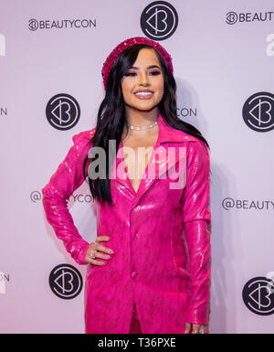 Manhattan, New York City, Javits Center - April 6, 2019: Beautycon NYC 2019: Rebbeca Marie Gomez aka Becky G - American singer and songwriter - Stock Photo
