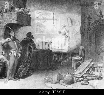 Faust by Gounod Act Covent Garden lithograph - Stock Photo