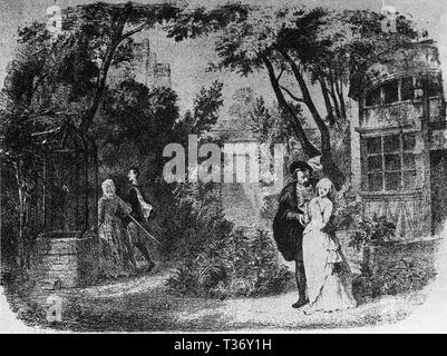 Faust by Gounod Act engraving by Lamy - Stock Photo