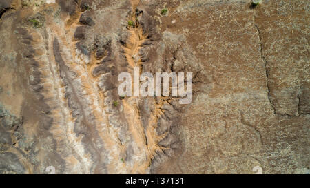 geographical feature rift valley, Tanzania - Stock Photo