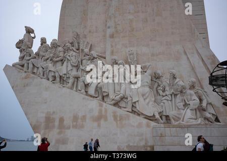 Padrão dos Descobrimentos, Monument of the Discoveries, Lisbon, Portugal. - Stock Photo