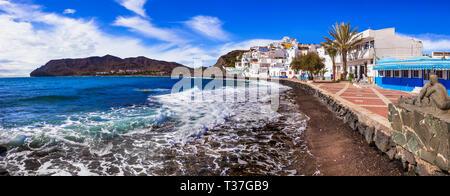 Beautiful La Playitas village,panoramic view,Fuerteventura island,Spain. - Stock Photo