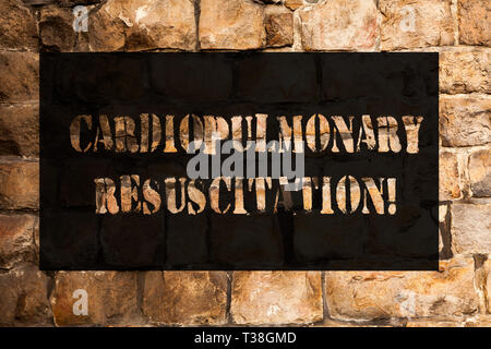Conceptual hand writing showing Cardiopulmonary