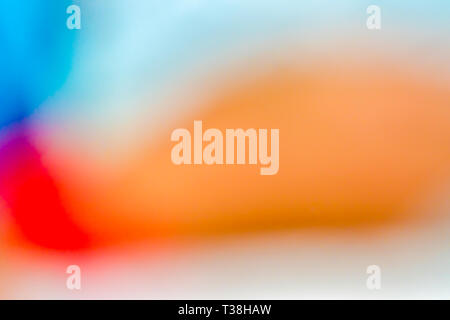 Blur abstract gradient orange, red, purple, blue and white for background artwork. - Stock Photo