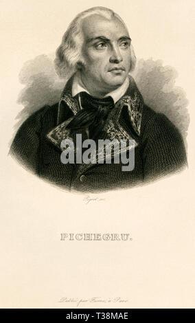 Europa, Frankreich, Jean-Charles Pichegru, französischer General der Revolutionskriege, Kupferstich von Pigeot , wahrscheinlich 1830er Jahre , ? , her - Stock Photo