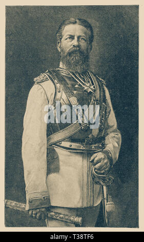 Friedrich Wilhelm, Crown Prince of Prussia. Digital improved reproduction from Illustrated overview of the life of mankind in the 19th century, 1901 edition, Marx publishing house, St. Petersburg. - Stock Photo
