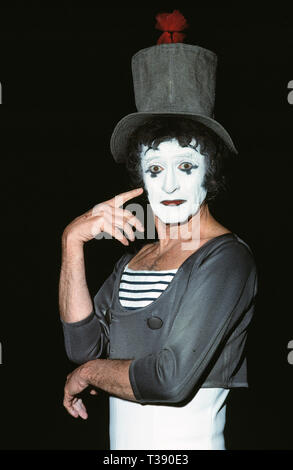 Celebrity. Entertainer. Marcel Marceau (1923 - 2007). 1980's - Stock Photo