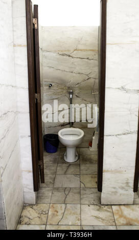 Toilet dirty and full of dust, unhygienic room, abandonment - Stock Photo