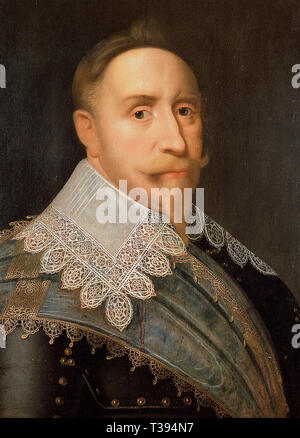 Gustavus Adolphus of Sweden by Jacob Hoefnagel. Gustavus Adolphus, King of Sweden 1611-1632 Gustavus Adolphus (1594 – 1632), Gustav II Adolf or Gustav II Adolph, the King of Sweden from 1611 to 1632 - Stock Photo