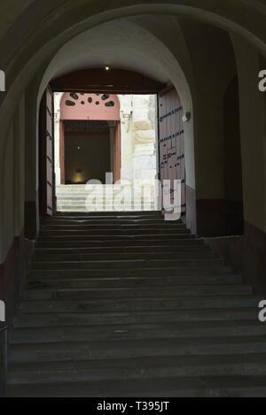stairs in the 'Forte da Graça', Elvas, Portugal - Stock Photo
