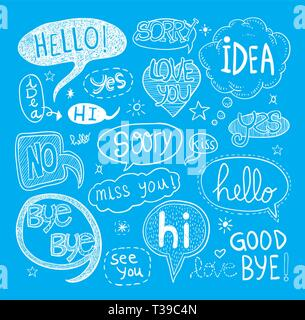 speech bubbles, vector illustration. - Stock Photo