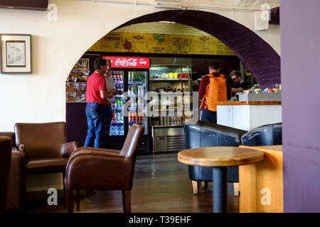Cafe Gusto at Temple Meads Station Bristol - Stock Photo