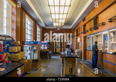Interior of the Roseland Post Office - Stock Photo