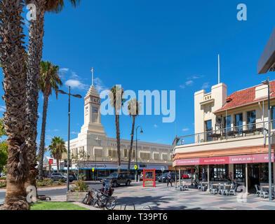 Langtree Mall looking towards Eighth Street in the city of Mildura, Victoria, Australia - Stock Photo