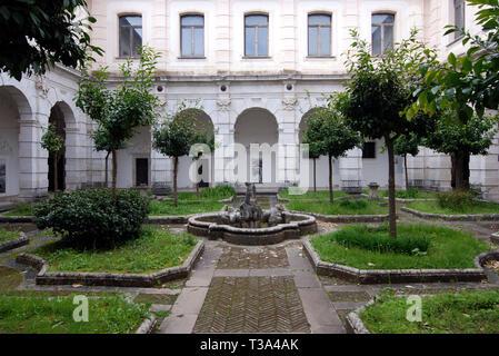 cloister of procurators in saint lawrence charterhouse certosa di san lorenzo in padula province of salerno italy - Stock Photo