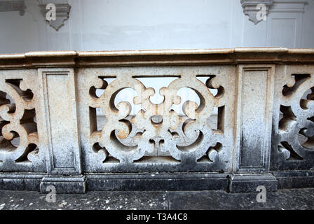 detail of ancient cemetery's cloister in saint lawrence charterhouse certosa di san lorenzo in padula province of salerno italy - Stock Photo