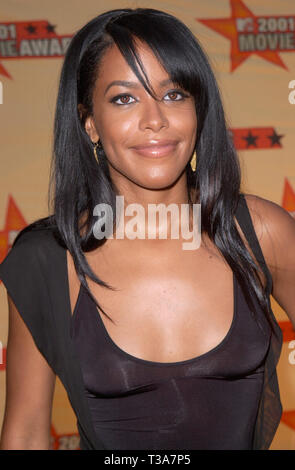 LOS ANGELES, CA. June 02, 2001: Actress AALIYAH at the MTV Movie Awards in Los Angeles. - Stock Photo