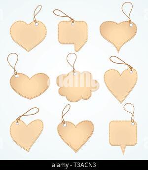 Set of Blank tags. Vector illustration. - Stock Photo
