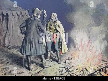 Seven Years' War, global conflict fought between 1756 and 1763, Frederick the Great, Frederick II., Friedrich der Große, Friedrich II. 1712-1786, at B - Stock Photo