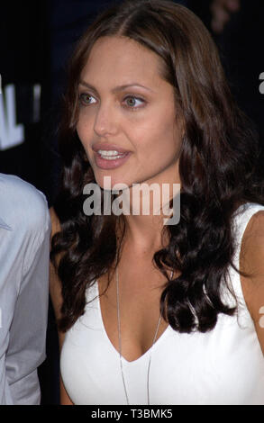 LOS ANGELES, CA. July 31, 2001: Actress ANGELINA JOLIE at the world premiere, in Los Angeles, of her new movie Original Sin. © Paul Smith/Featureflash - Stock Photo