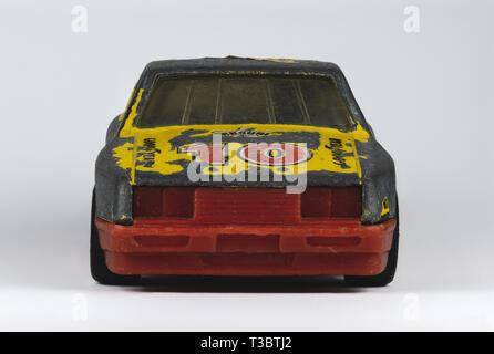 Macro image of vintage toy car - Stock Photo