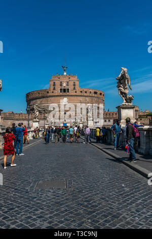 Castel of the Holy Angel, Rome, Italy - Stock Photo