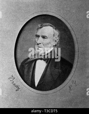 Zachary Taylor (1784-1850), 12th President of the United States 1849-50, Portrait, Daguerreotype Reproduction, Mathew Brady, 1849 - Stock Photo
