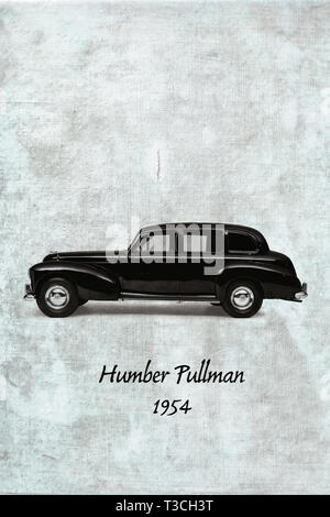 Black Humber Pullman from 1954 also known as 'Old Faithfull' - Stock Photo