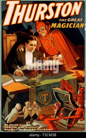 HOWARD THURSTON (1869-1936) American stage magician - Stock Photo
