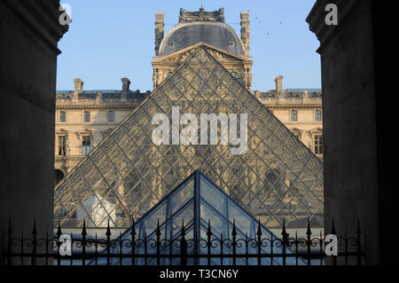 Paris, France - 02/08/2015: View of the Louvre museum