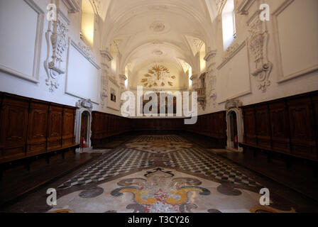 the refectory of saint lawrence charterhouse certosa di san lorenzo in padula province of salerno italy - Stock Photo