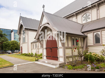 The Church of St Michael and All Angels Anglican church in Christchurch, New Zealand. - Stock Photo