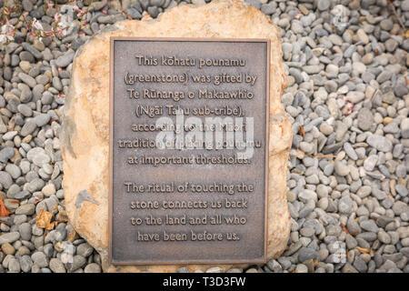 pounamu stone, Christchurch, New Zealand - Stock Photo