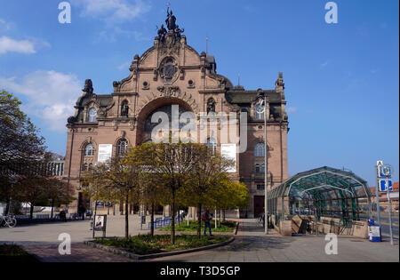 Opera house and state theatre, art nouveau style, Nuremberg, Franconia, Bavaria, Germany - Stock Photo