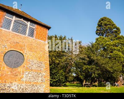 Tower, Caversham Court Garden, Caversham, Reading, Berkshire, England, UK, GB. - Stock Photo