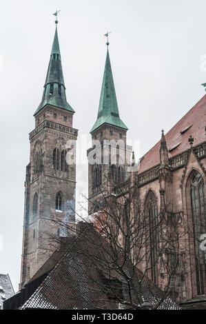 St. Lorenz Church (St. Lorenz Kirche) in historical Nuremberg town. Nuremberg, Bavaria, Germany