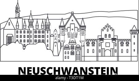 Neuschwanstein Castle Stock Vector Image Art Alamy