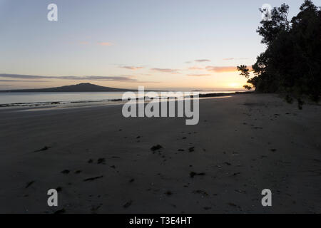 Auckland, New Zealand.Sunrise - Stock Photo