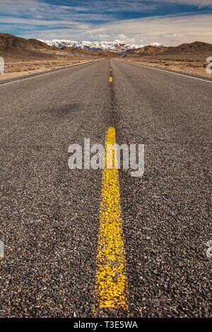 Highway 50 in Nevada, USA. The Loneliest Highway in America. - Stock Photo