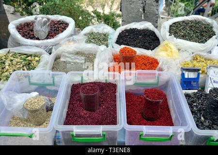 Azerbaijan, Shaki, local market - Stock Photo