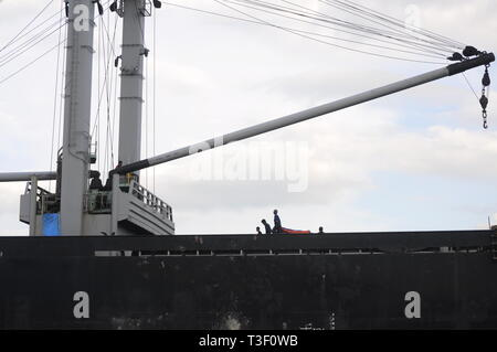 A partly of ship dock people - Stock Photo