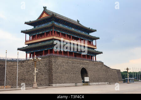 Tian'an men gate on the famous square in Beijing - Stock Photo