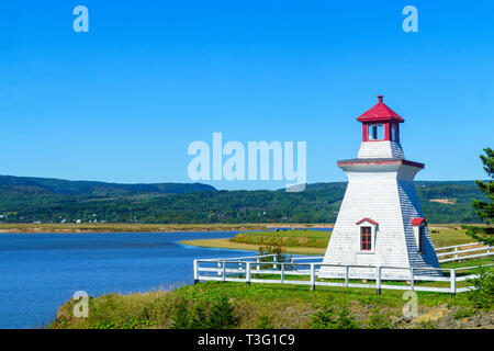 View of countryside and the Anderson Hollow Lighthouse, in Hopewell Hill, New Brunswick, Canada - Stock Photo